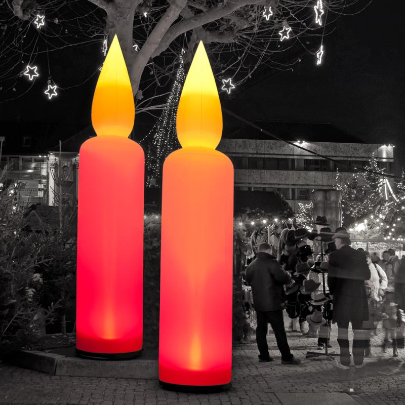 CANDLE Inflatable Light Sculpture For Festive Themes