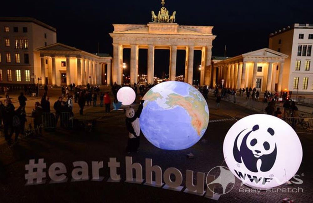 EARTH HOUR 2015 – GLOBE WITH 360° PRINTING