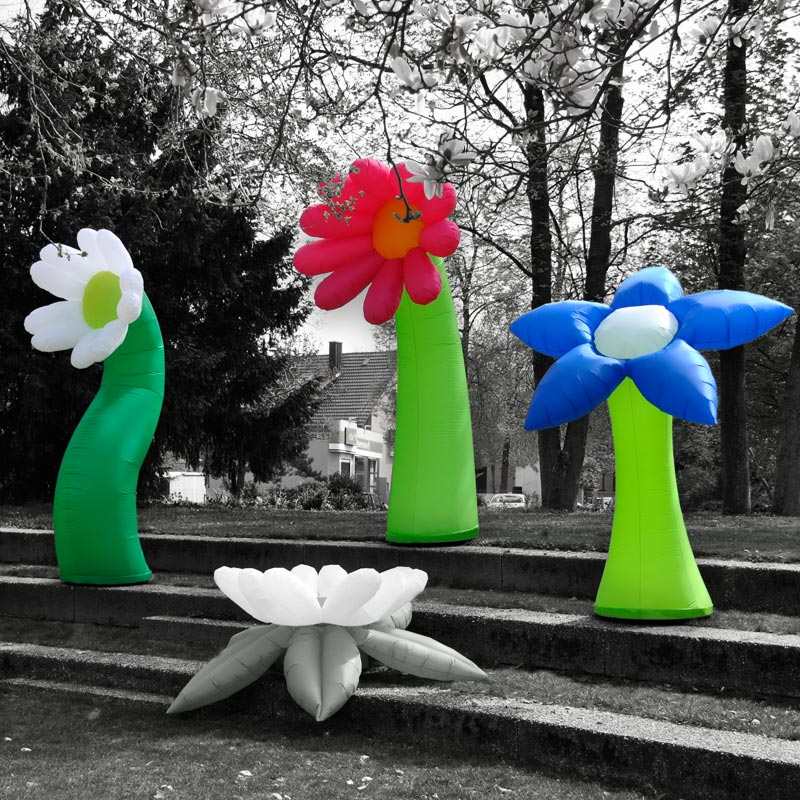 FLOWER Inflatable, Colourful Flowers For Indoor And Outdoor Use