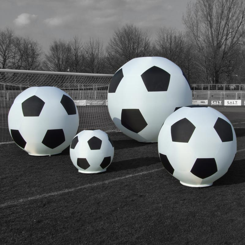 GLOBE SOCCER Inflatable Light Sculptures In Soccer Design