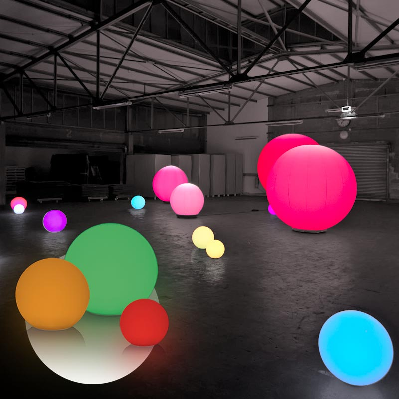 LED AKKU BALL Leuchtkugel Mit Integrierte LED-Beleuchtung