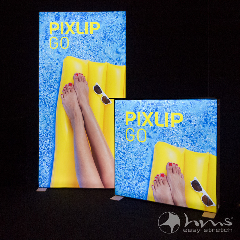 PIXLIP GO  Mobile & Illuminated Presentation System Made Of Lightweight Material