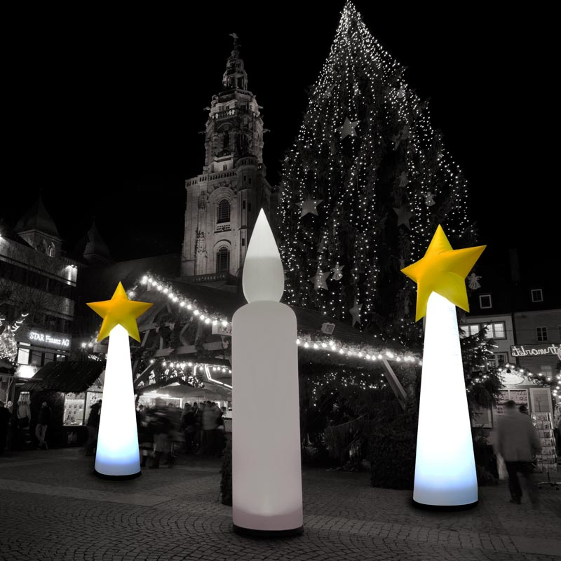 STARCONE Inflatable Lighting Sculpture For Festive Themes